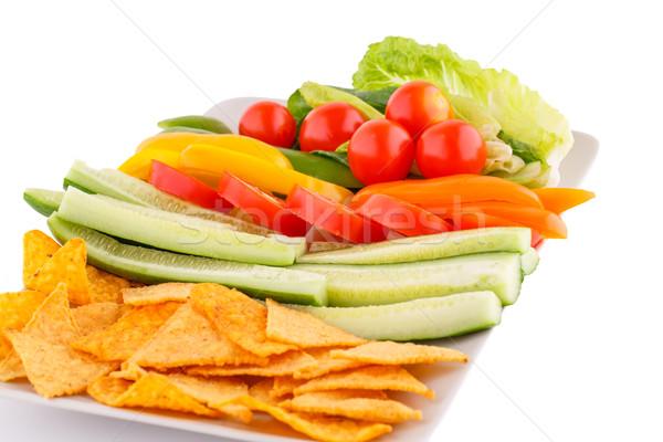 Nachos and vegetables Stock photo © ruzanna