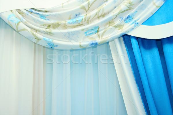 カーテン 画像 豪華な ホーム 家 ウィンドウ ストックフォト © ruzanna