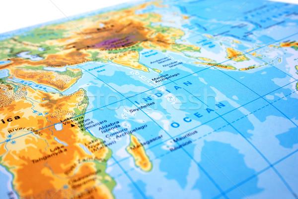 Mappa del mondo Europa Asia africa mare terra Foto d'archivio © ruzanna
