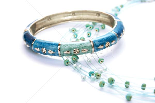 Pulsera collar aislado blanco diseno anillo Foto stock © ruzanna