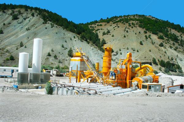 Asfalto batedeira plantas Turquia trabalhar tecnologia Foto stock © ruzanna