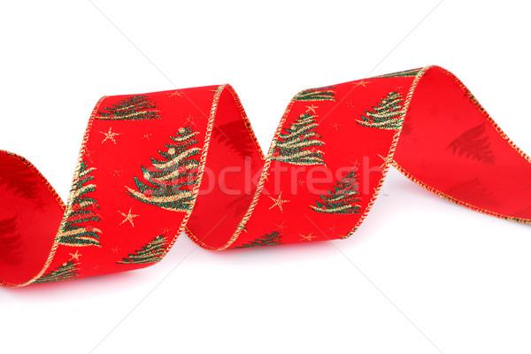 Karácsony szalag vörös szalag izolált fehér tél Stock fotó © ruzanna