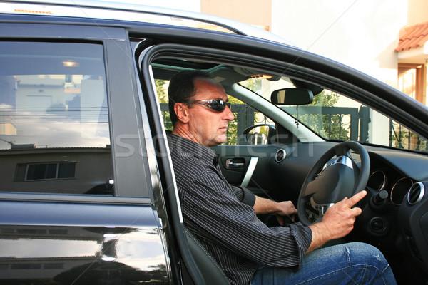Man in car Stock photo © ruzanna