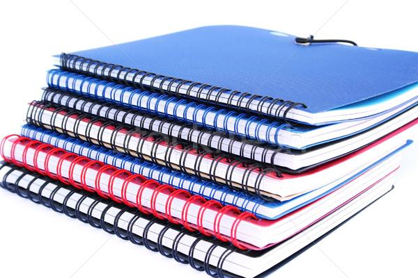 Schönschreibheft farbenreich isoliert weiß Büro Stock foto © ruzanna