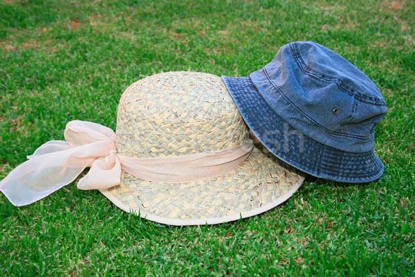 Hats on the grass Stock photo © ruzanna