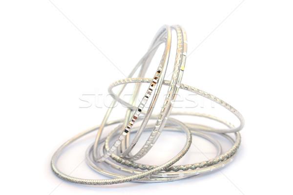 Aislado blanco resumen fondo metal regalo Foto stock © ruzanna
