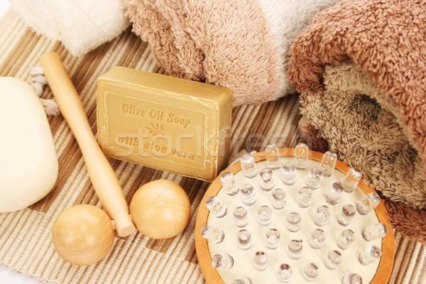 Asciugamani spa set texture legno massaggio Foto d'archivio © ruzanna