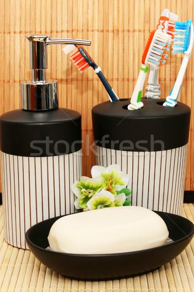 Soap dispensers and bar Stock photo © ruzanna