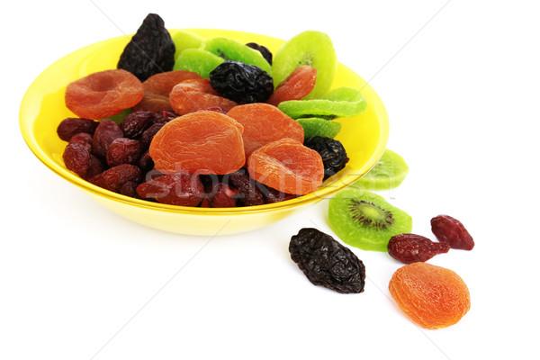Foto stock: Secas · frutas · vaso · isolado · branco · fruto