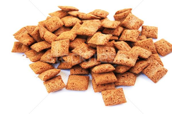 Granen bruin geïsoleerd witte voedsel gezondheid Stockfoto © ruzanna