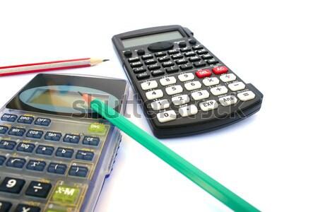Calculator and pen Stock photo © ruzanna