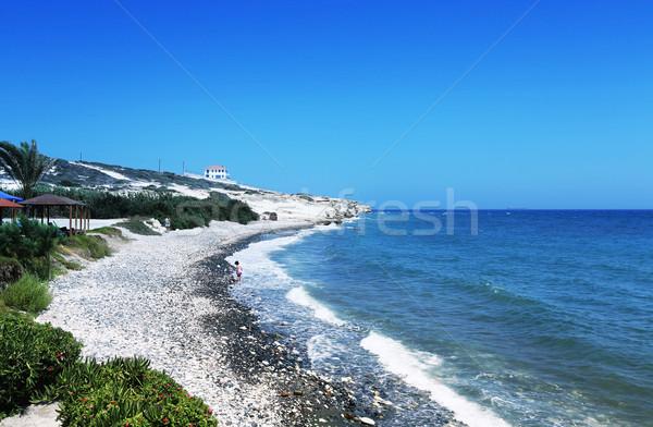 Ciprus tengerpart tájkép tengerpart égbolt víz Stock fotó © ruzanna