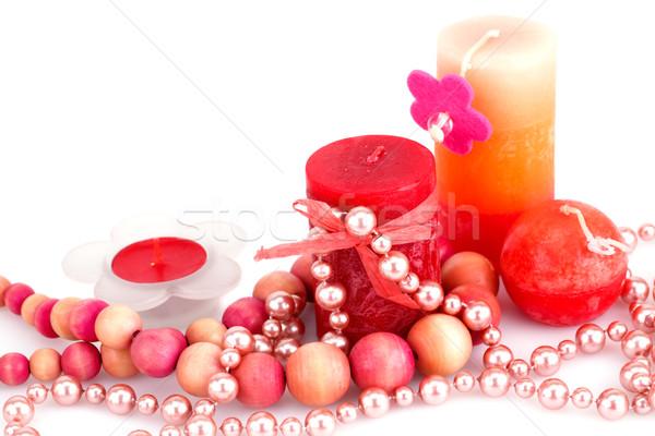 Farbenreich Kerzen Liebe glücklich Licht Stock foto © ruzanna