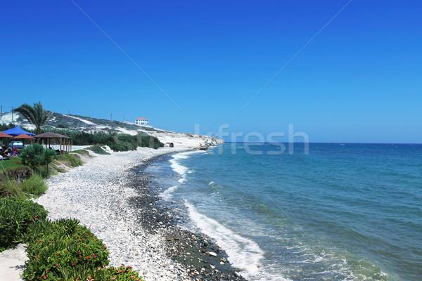 Cyprus strand landschap kustlijn hemel water Stockfoto © ruzanna