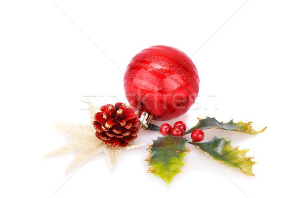 Рождества украшение мяча конус святой ягодные Сток-фото © ruzanna