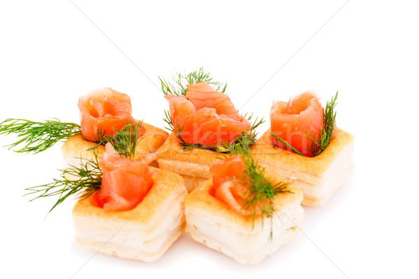 鮭 フィレット 孤立した 白 ストックフォト © ruzanna