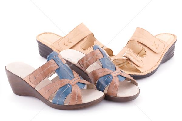 Sandalias aislado blanco moda diseno belleza Foto stock © ruzanna