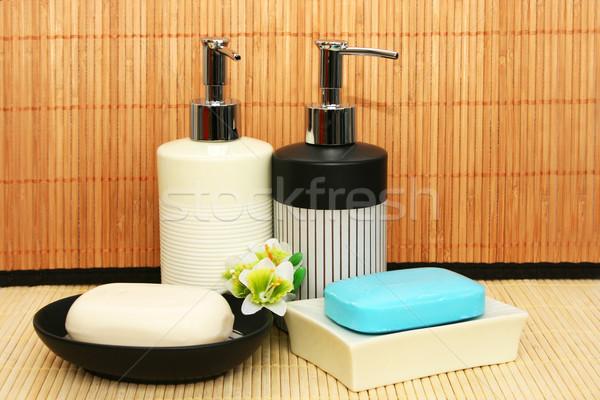 Soap dispensers and bars Stock photo © ruzanna