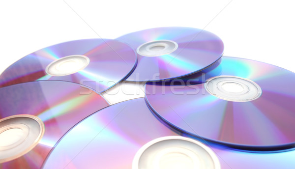 Five  printable dvds isolated on white  Stock photo © ruzanna
