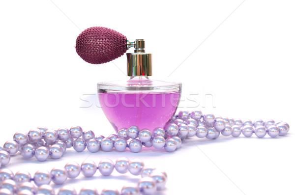 Parfum ketting geïsoleerd witte mode ontwerp Stockfoto © ruzanna