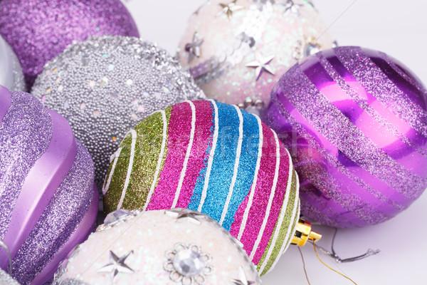 Рождества красочный серый зима мяча Сток-фото © ruzanna