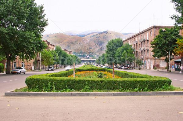 市 アルメニア 通り 空 車 山 ストックフォト © ruzanna