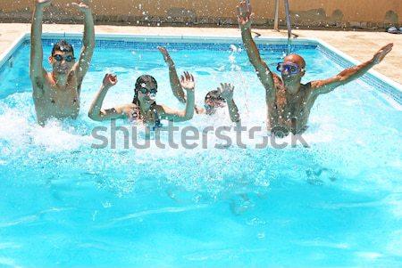 люди Бассейн воды лет пространстве Сток-фото © ruzanna