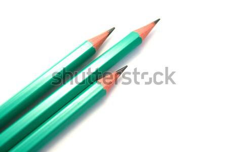 鉛筆 3  白 木材 学校 鉛筆 ストックフォト © ruzanna