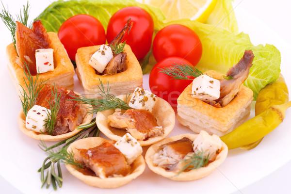 Smoked fish in pastries Stock photo © ruzanna