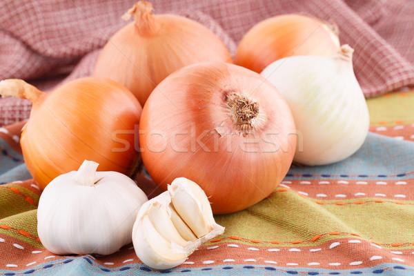 Onions and garlics Stock photo © ruzanna