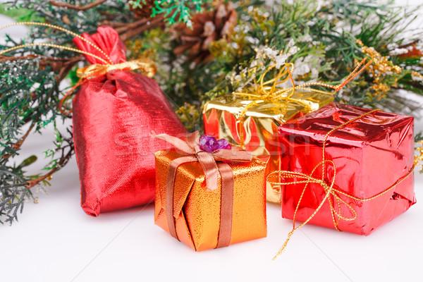 Natal decoração caixas cinza Foto stock © ruzanna