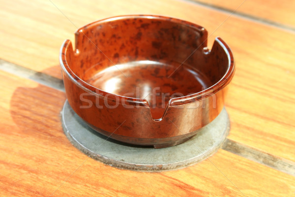 Ceniza bandeja marrón mesa medicina vida Foto stock © ruzanna