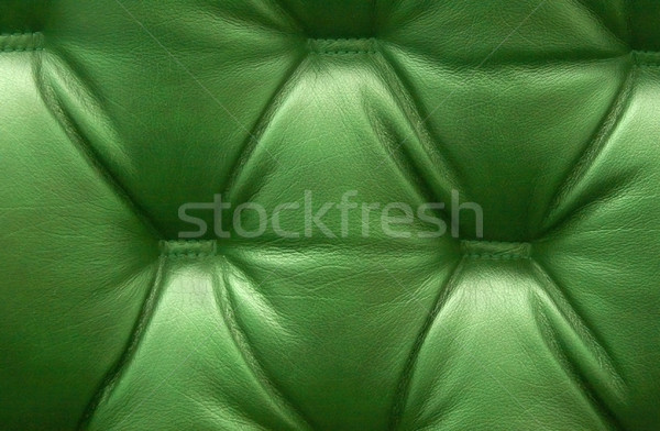 Zöld bőr kárpit háttér űr bútor Stock fotó © ruzanna