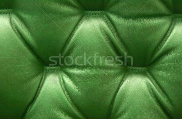 Green leather upholstery Stock photo © ruzanna