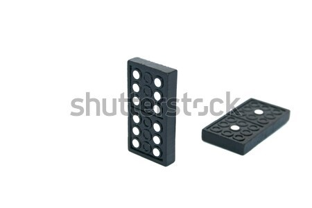 Zayıf kazanan domino yalıtılmış beyaz arka plan Stok fotoğraf © ruzanna