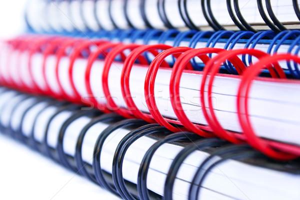 Schönschreibheft isoliert weiß Büro Buch Stock foto © ruzanna