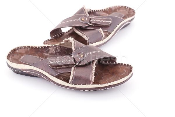 Sandálias isolado branco moda beleza sapatos Foto stock © ruzanna