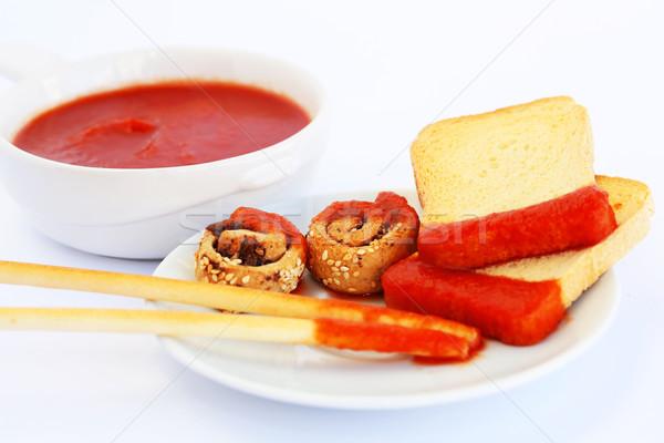 パン ソース 赤 孤立した グレー ストックフォト © ruzanna