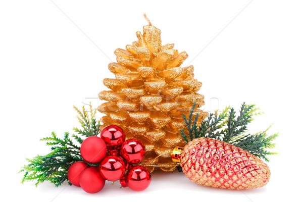 Navidad decoración vela Foto stock © ruzanna