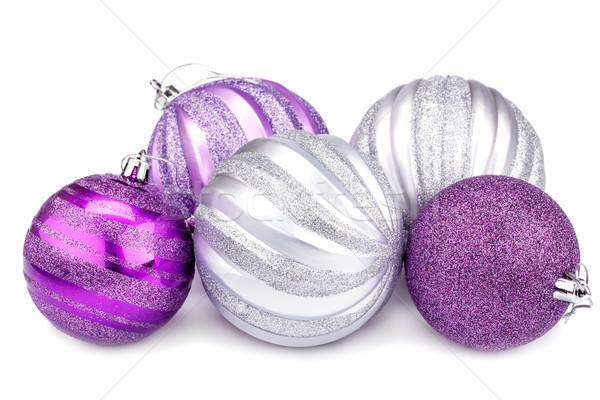 Рождества изолированный белый мяча золото Сток-фото © ruzanna