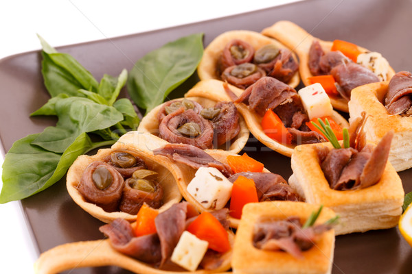 Anchovies in pastries Stock photo © ruzanna