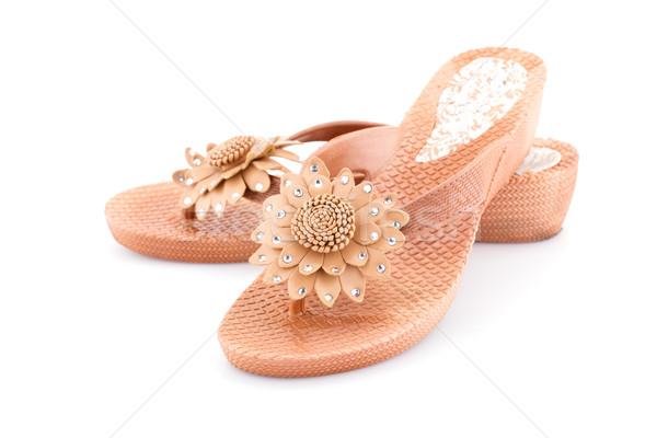 Cipők bézs izolált fehér divat terv Stock fotó © ruzanna