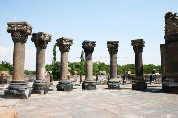 Kathedraal ruines Armenië unesco wereld erfgoed Stockfoto © ruzanna