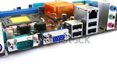 Alaplap számítógép izolált fehér kék ipar Stock fotó © ruzanna