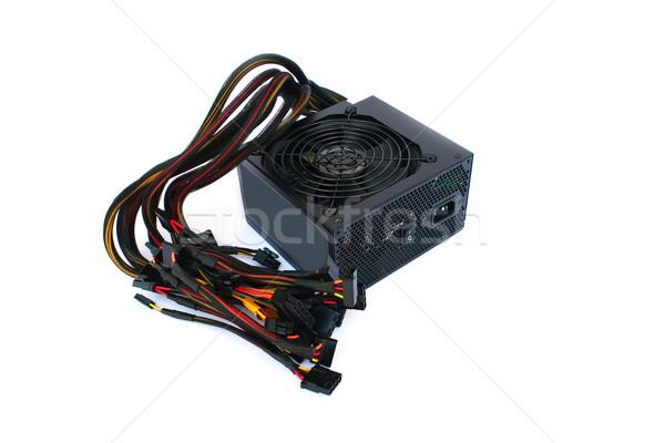 Source de courant unité isolé blanche ordinateur technologie Photo stock © ruzanna