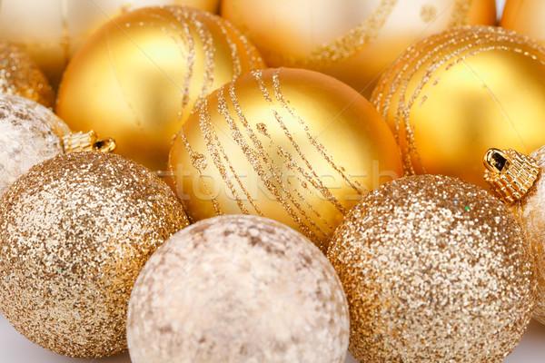 Karácsony golyók közelkép kép labda szín Stock fotó © ruzanna