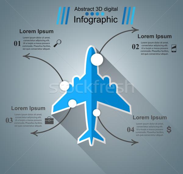 Vliegtuig business icon vector eps Stockfoto © rwgusev