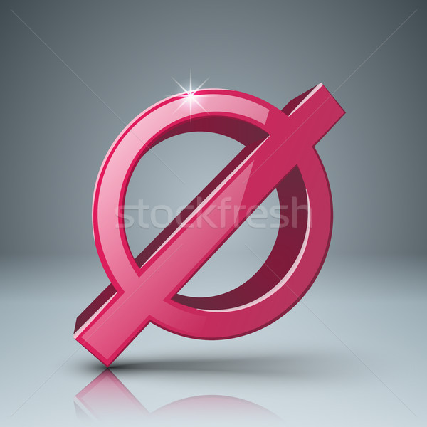 Stop, no 3d realistic icon Stock photo © rwgusev