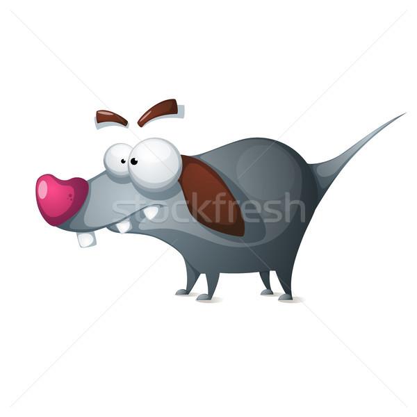 çılgın köpek komik karikatür vektör Stok fotoğraf © rwgusev