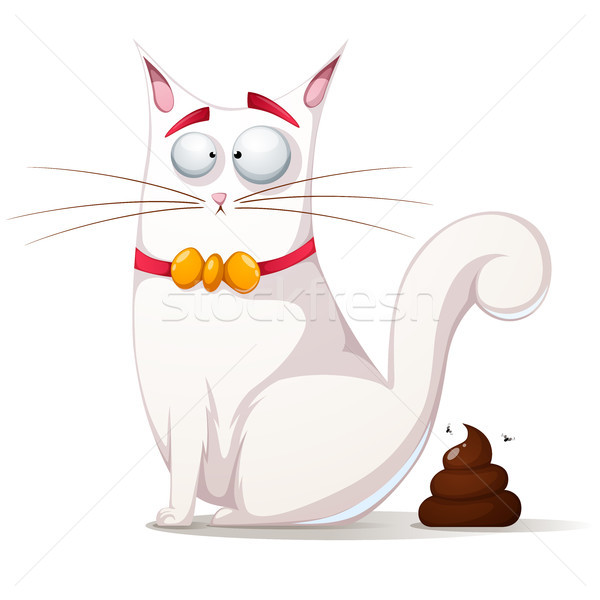 Funny, cute cat illustration. Stock photo © rwgusev
